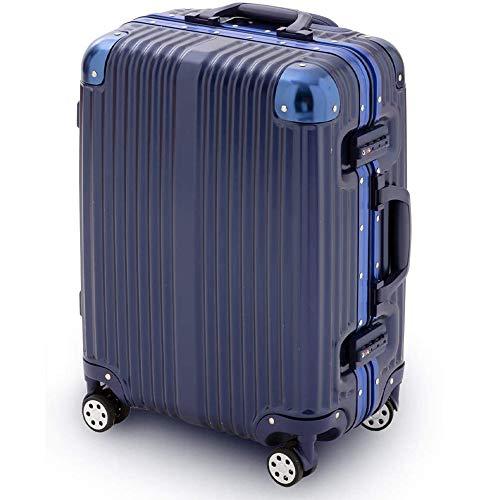 スーツケース アイリスプラザ キャリーバッグ アルミフレーム 大型 軽量 Lサイズ 120L ダブルキャスター 7泊以上 旅行 ネイビー