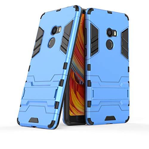 COOVY® Cover für Xiaomi Mi Mix 2 Bumper Hülle, Doppelschicht aus Plastik + TPU-Silikon, extra stark, Anti-Shock, Standfunktion | Farbe blau