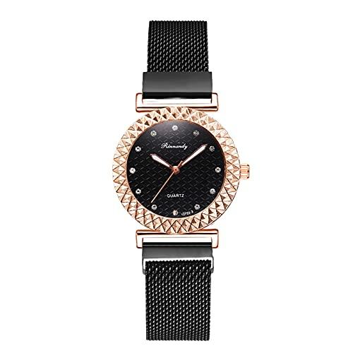 Montloxs Reloj de Pulsera de Cuarzo para Mujer Reloj de Vestir para Mujer de Moda Reloj Casual Simple con Correa de aleación