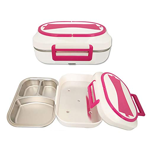 DAQIAO Electric Lunch Box 12V/24V/220V Home Car Truck Dual Use Food Grade Material, with 1L Stainless Steel Food Warmer Heater, Easy to Clean