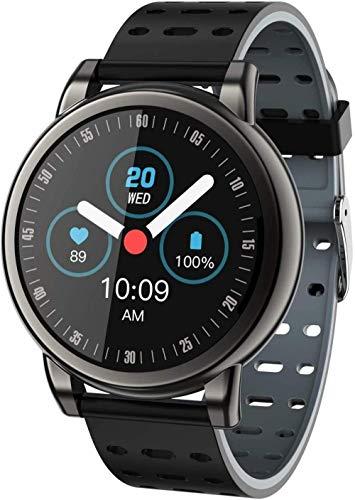 TYUI Reloj inteligente de seguimiento de fitness de 1.06 pulgadas con pantalla a color redonda con mensaje inteligente recordatorio de llamadas
