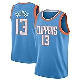 ZHS Camiseta de baloncesto de Paul George # 13 Los Angeles Clippers para hombre, camiseta de baloncesto bordada de malla (S-XXL) 8-S