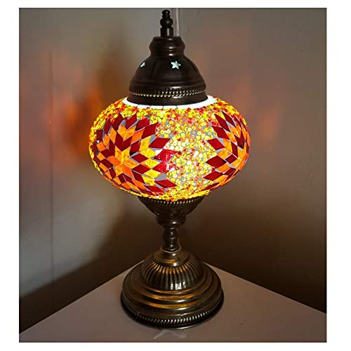 Turkse tafellamp mozaïek kristal meerkleurig Arabisch slaapkamer wandlamp