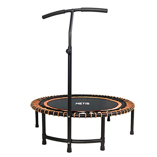 METIS Mini Exercise Trampoline – Indoor, Home and Gym Fitness| Adjustable Handle Height – Cardio, Aerobics and Fitness Bouncer