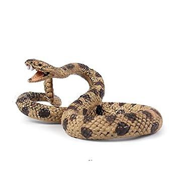 Ulalaza Simulation Snake Toy Lifelike Python Cobra Model Halloween Prank Scary Snake Fake Animal Toy  4066