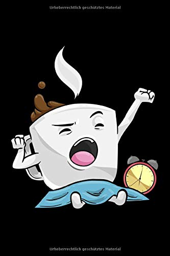 Notizbuch, 120 Seiten: Tasse mit Kaffee schwarz - Geschenke - Kaffeetrinker Notizbuch - Tagebuch - Skizzenbuch - Schulheft für Frauen und Männer oder ... ) - Weißes Papier - 6x9 Zoll - Punktraster