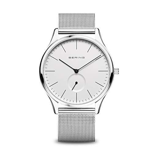 BERING Herren Analog Quartz Uhr mit Edelstahl Armband 16641-004