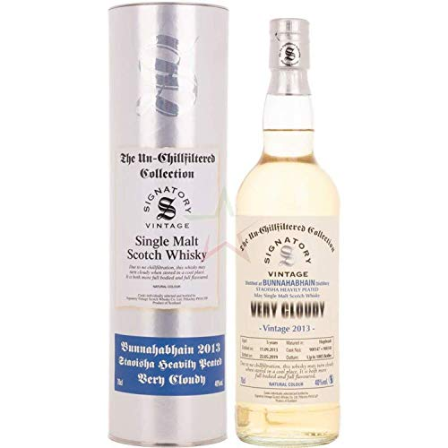Signatory Vintage BUNNAHABHAIN STAOISHA VERY CLOUDY The Un-Chillfiltered Collection 2013 Whisky (1 x 0.7 l)