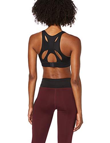 Amazon-Marke: Aurique Damen Sport-BH für mittleren Halt, Schwarz (Black), L