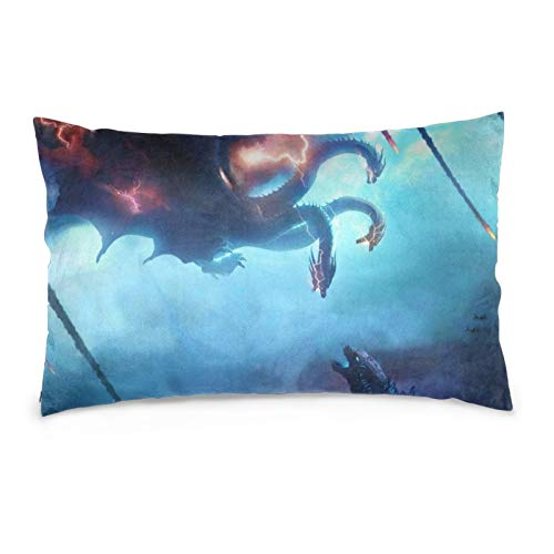 JimmyMilly Godzilla King Ghidorah Set Cushion Case Throw Pillow Covers for Chair Home Decor Cushion Case 14' x20