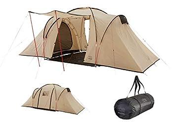Grand Canyon ATLANTA 4 - Tente dôme pour 4 personnes   tente, tente familiale avec deux espaces de couchage   Désert de Mojave (beige)