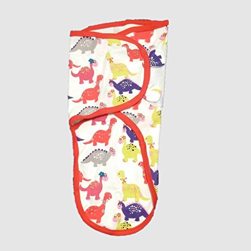 Cobertor de envolver banana para bebês, de pequeno a médio, 3,2 a 6,3 kg. Conjunto de envolver bebê ajustável de algodão macio pequeno a médio Amazon Swaddle Wrap Lady Dinosaur