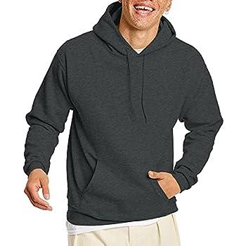 Hanes Men s Pullover EcoSmart Hooded Sweatshirt Charcoal Heather S