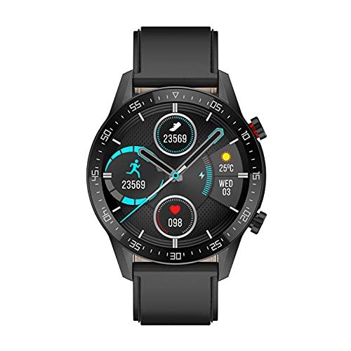 QFSLR Smart Watch con Monitorización De Frecuencia Cardíaca Y Presión Arterial Rastreador De Ejercicios Ip68 Rastreador Deportivo Impermeable Adecuado para Android iOS,Black b