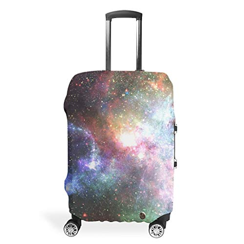 Travel Luggage Case Cover - Mist Unique Luggage Cover Multiple Sizes Fit Protective Trolley, White (White) - BTJC88-scc