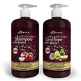 Apple Cider Vinegar Shampoo & Avocado Coconut Conditioner (2 x 16.9 fl oz) | Infused with Aloe Vera,...