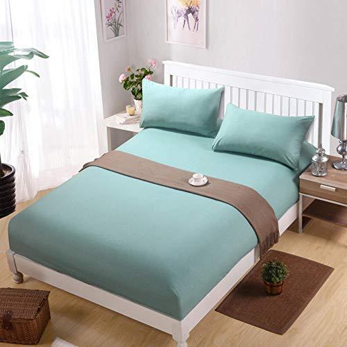 Nuoxuan Premium Sábana Bajera,Hojas Individuales cepilladas de Color Puro, adecuadas para Fundas Protectoras Antideslizantes para Apartamentos de Hombres y mujeres-100x200cm