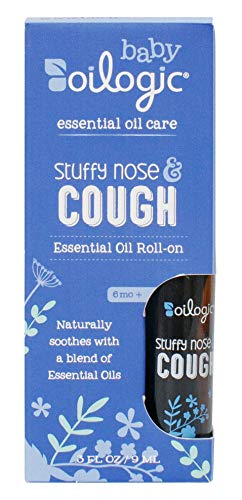 Oilogic Stuffy Nose and Cough Essential Oil Roll-On for Babies and Toddlers - Naturally Soothes Cough and Stuffy Nose With Essential Oils - 9ml (0.3 fl oz) Michigan