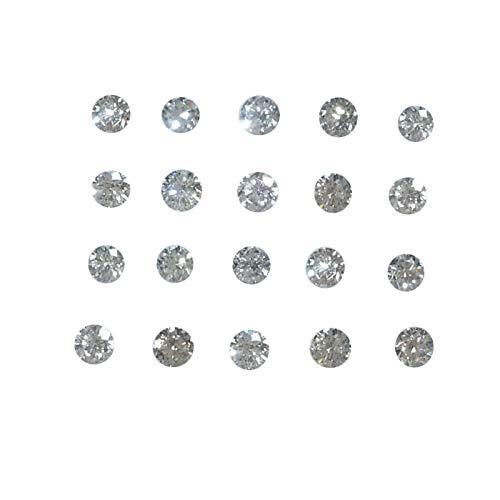 20 Piedras Lote 100% Natural 2.0mm Diamante Suelto VS Color GH Corte Brillante Redondo