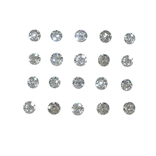 20 Steine Los 100% Natürlicher 2.0mm Diamant Lose VS Farbe GH Rund Brilliant Cut