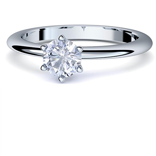 Bergkristall Ring Silber 925 (***sehr hochwertiger Bergkristall 5 mm***) + GRATIS Luxusetui Silberring weißer Stein Silberring Bergkristall Bergkristallringe Ringe Damen Schmuck AM195 SS925BKFA52