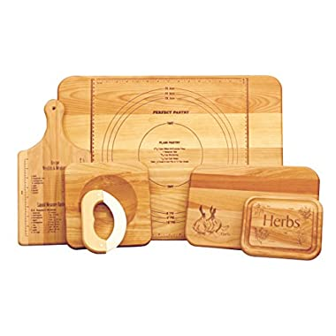 Catskill Craftsmen Ultimate Chef's Set of 5 Boards, Assorted Sizes