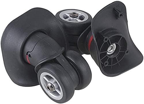 WWJ Caster Wheels Replacement Black Plastic Swivel Luggage Caster Wheels Universal Replacement,1 Right Suitcase Wheels Password Trolley Suitcase Wheels