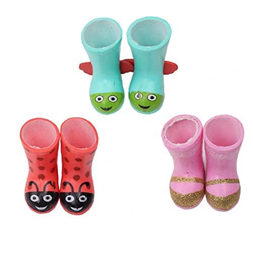 TOSSPER 1pair Muñecas Botas De Estilo Redondeadas Dedos De Los Pies Zapatos De 14,5 Pulgadas Muñeca De Niña Vestido De Regalo para Los Niños Color Azar