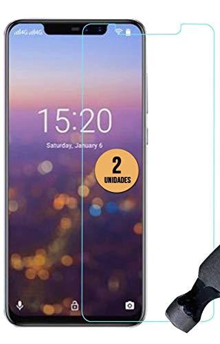 case & glass 2 Unidades de Protectores de Pantalla Premium 2.5D Cristal Vidrio Templado 9H para UMI Umidigi Z2