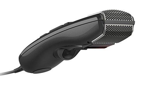 Philips SMP3800 SpeechMike Premium Touch, USB-Diktiermikrofon für kristallklare Aufnahmen und beste Spracherkennungsergebnisse, Barcode-Scanner, sensorisches Bedienfeld und Drucktasten, Anthrazit