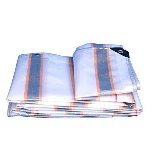 LWY Lona de polietileno, revestimiento impermeable de polietileno, tejido de alta densidad, antienvejecimiento, protector solar, resistente al desgaste, 220 g/m² F7/30 (tamaño: 6 × 8 m).