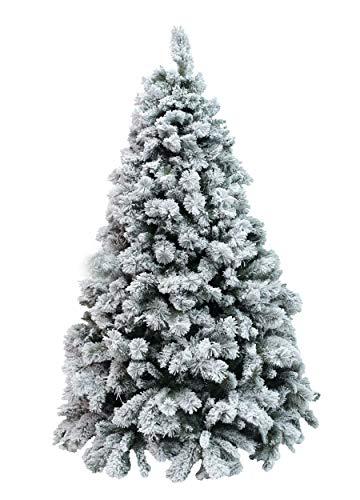 XONE Albero Milton INNEVATO 210 CM | Albero Artificiale Bianco | Albero di Natale con Neve PP+PVC Effetto Aghi di Pino