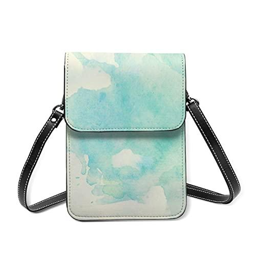 Bolso de hombro para mujer, mini bolsas de hombro, resumen brillante, bloqueo RFID RFID con correa ajustable, 998 Acuarela, Talla única