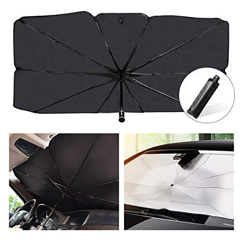 helloleiboo Car Windshield Sun Shade UV Rays and Heat Sun Visor Protector Foldable Reflector Windshields Umbrella
