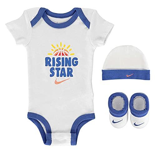 Nike Baby Girls - Set da 3 pezzi, colore: Bianco/Blu