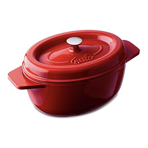 Fissler 6975536000 Arcana Gusseisen, Bräter, oval 36 cm, rot
