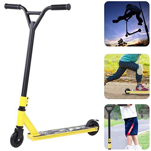 jadenzhou Scooter Profesional Amarillo, Scooter para Acrobacias para Adultos, para Equipos de Pedales deslizantes de Trabajo
