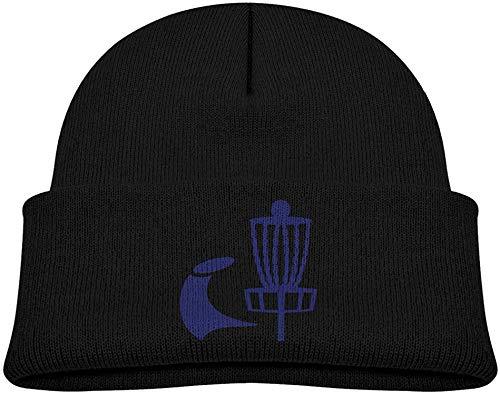 NR Disc Golf Icon Basket Kleinkindermützen Winter Strickmütze Skull Cap, OneSize, Schwarz