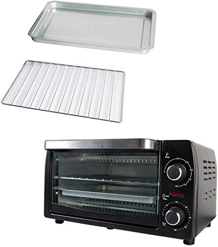 Countertop Toaster Oven for Baking 9L, Black