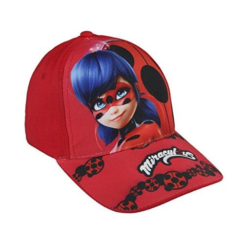 Miraculous, die Geschichten von Ladybug und Chat Noir 2200002855 Cap, Baumwolle, Kinder (Rot)
