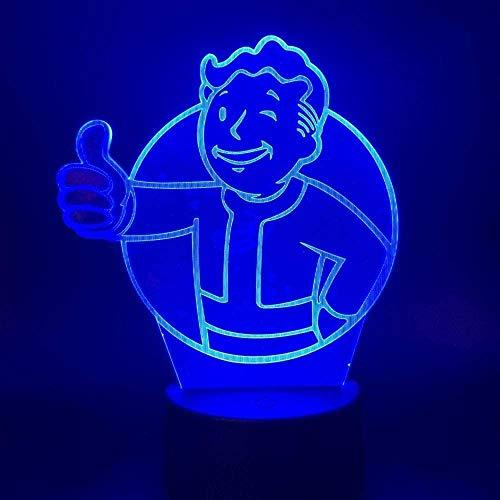 YOUPING Luz nocturna LED 3D con juego de Fallout Shelter que cambia...