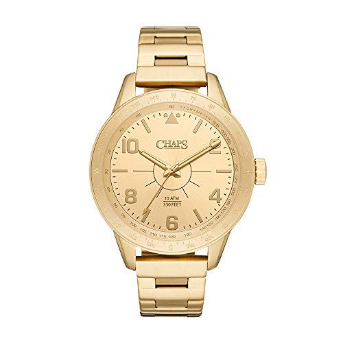Reloj Chaps Bransen para Hombres 46mm, pulsera de Acero Inoxidable