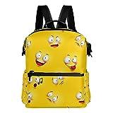 Großer Schulrucksack mit Smiley-Gesicht, legere Reise, Grundlegende Studentenbuch-Tasche für...