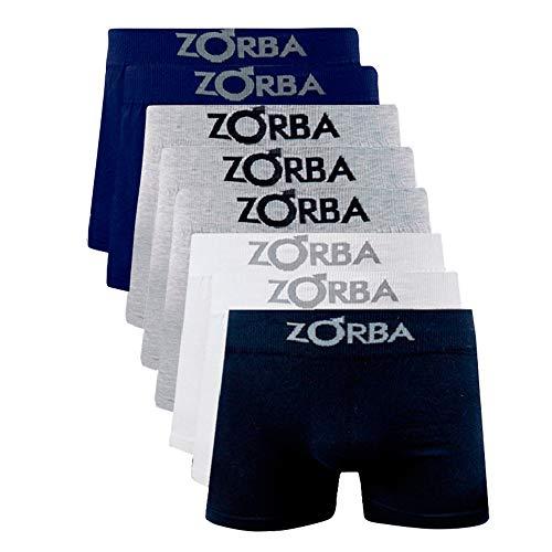 Kit 8 Cuecas Masculinas Adulto Zorba (G, Multicor)