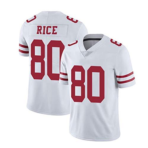 WHUI Jersey de Rugby para 49ers, Camisas atléticas para Hombres, Transpirable y Secado rápido, Adecuado para Entrenamiento Diario, Blanco XXL-80