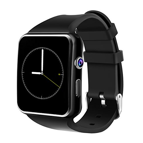 Smartwatch Android, DeYoun Orologio Intelligente Smart Watch da Polso Supporta TF/Sim Card Slot per Android Samsung Galaxy S8/S7, Huawei, Sony, LG, HTC, Xiaomi, Iphone iOS [Parte delle funzioni]