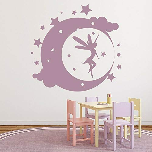 Calcomanía de pared de luna hermoso Anime Mural creativo vinilo adhesivo para ventana arte niños habitación de bebé habitación de bebé dormitorio decoración del hogar
