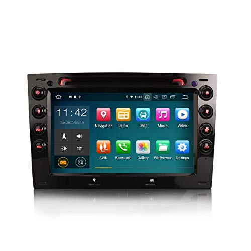 Car Navigator 7 Pulgadas Android 10.0 Reproductor Multimedia estéreo para automóvil para Renault Megane Soporte GPS Sat Nav Carplay Android Auto Bluetooth A2DP WiFi 4G Dab + RDS Mirror Link TPMS SWC