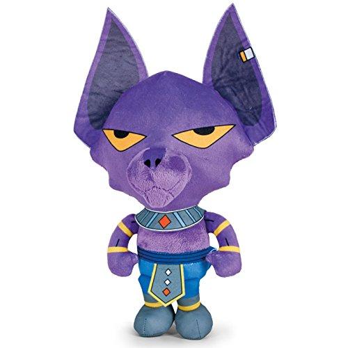 PBP Dragon Ball Super - Peluche Bills, dio della Distruzione Beerus, umanoide di pelle viola e aspetto del gatto 22cm Qualità super soft (760016800)