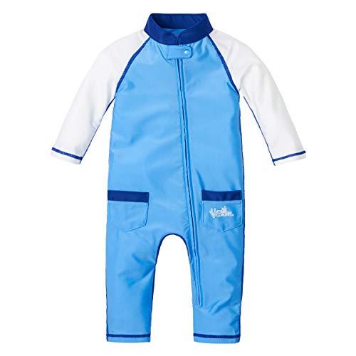 UV SKINZ UPF50+ Baby Boy Sun & Swim Suit-Ocean Blue/White-18/24m